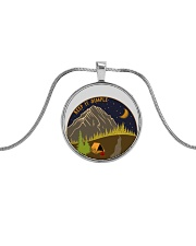 Keep It Simple 1 Metallic Circle Necklace thumbnail