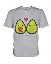 You Complete Me V-Neck T-Shirt thumbnail