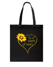 Teaching Is A Work Of Heart Tote Bag thumbnail