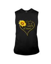 Teaching Is A Work Of Heart Sleeveless Tee tile