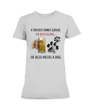 He Also Neef A Dog Premium Fit Ladies Tee thumbnail