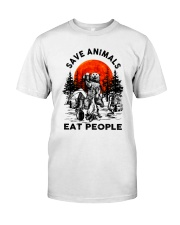 Save Animals Eat People Classic T-Shirt thumbnail