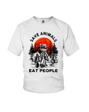Save Animals Eat People Youth T-Shirt thumbnail