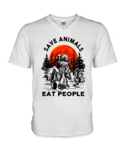 Save Animals Eat People V-Neck T-Shirt thumbnail
