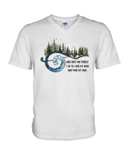 And Into the Forest I Go 3 V-Neck T-Shirt thumbnail