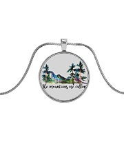 The Mountains Are Calling Metallic Circle Necklace thumbnail