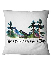 The Mountains Are Calling Square Pillowcase thumbnail