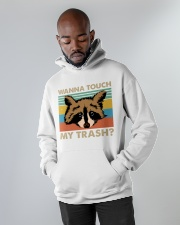 Wanna Touch My Trash Hooded Sweatshirt apparel-hooded-sweatshirt-lifestyle-front-09