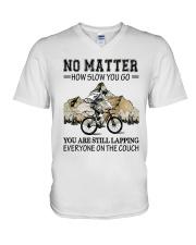 No Matter How Slow You Go V-Neck T-Shirt thumbnail
