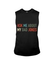 Ask Me About My Dad Jokes Sleeveless Tee thumbnail