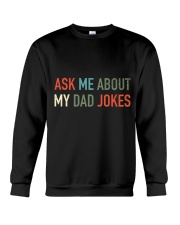 Ask Me About My Dad Jokes Crewneck Sweatshirt thumbnail