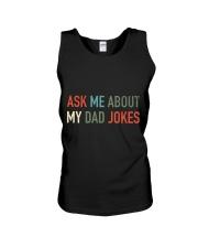 Ask Me About My Dad Jokes Unisex Tank thumbnail