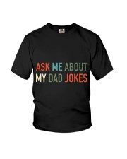 Ask Me About My Dad Jokes Youth T-Shirt thumbnail