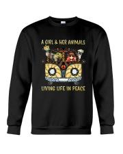 Living Life In Peace Crewneck Sweatshirt thumbnail