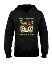 Living Life In Peace Hooded Sweatshirt front