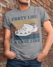 Party Like A Croc Star Classic T-Shirt apparel-classic-tshirt-lifestyle-26