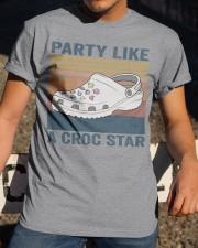 Party Like A Croc Star Classic T-Shirt apparel-classic-tshirt-lifestyle-28