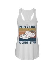 Party Like A Croc Star Ladies Flowy Tank thumbnail