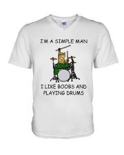 I'm A Simple Man V-Neck T-Shirt thumbnail