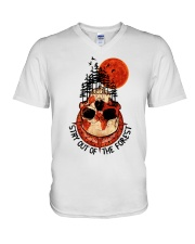 Stay Out Of The Forest V-Neck T-Shirt thumbnail