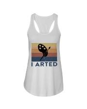 I Arted Ladies Flowy Tank thumbnail