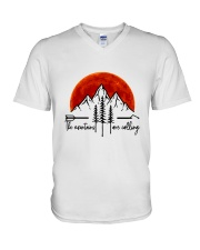 The Mountains Are Calling V-Neck T-Shirt thumbnail