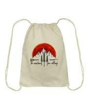 The Mountains Are Calling Drawstring Bag thumbnail