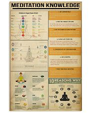Meditation Knowledge 11x17 Poster front