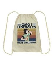 I Forgot To Have Children Drawstring Bag thumbnail