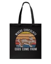 Where Chocolate Eggs Tote Bag thumbnail