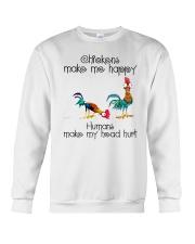 Chickens Make Me Happy Crewneck Sweatshirt thumbnail