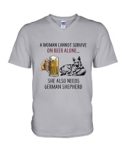 German Shepherd V-Neck T-Shirt thumbnail