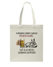 German Shepherd Tote Bag thumbnail