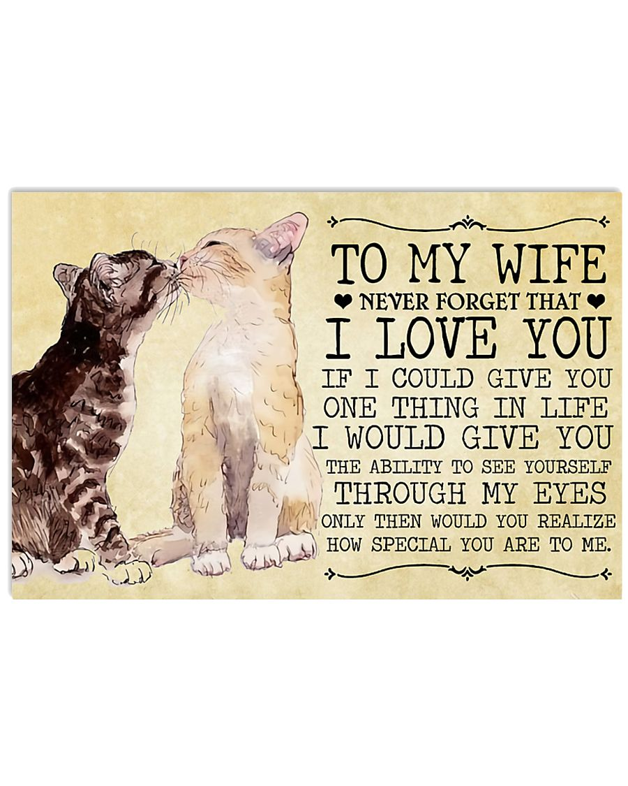 To My Wife 17x11 Poster