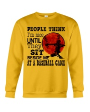 People Think I'm Nice Crewneck Sweatshirt thumbnail