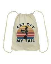 Get Off My Tail Drawstring Bag thumbnail