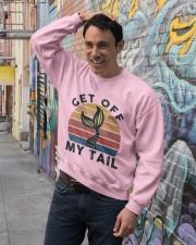 Get Off My Tail Crewneck Sweatshirt lifestyle-unisex-sweatshirt-front-4