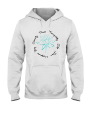 Love Yoga Hooded Sweatshirt front