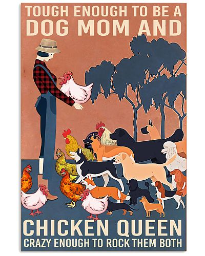 Dog Mom And Chicken Queen