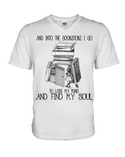 And Into The Bookstore V-Neck T-Shirt thumbnail