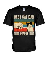 Best Cat Dad V-Neck T-Shirt thumbnail
