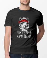 She Is A Bad Mama Llama Classic T-Shirt lifestyle-mens-crewneck-front-13