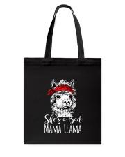 She Is A Bad Mama Llama Tote Bag thumbnail
