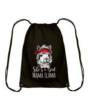 She Is A Bad Mama Llama Drawstring Bag thumbnail