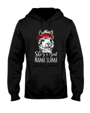 She Is A Bad Mama Llama Hooded Sweatshirt thumbnail
