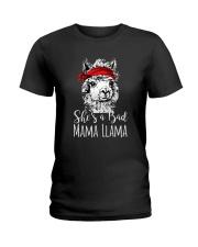 She Is A Bad Mama Llama Ladies T-Shirt thumbnail