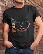 Hockey Is My Favorite Season Classic T-Shirt apparel-classic-tshirt-lifestyle-26