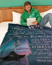 "To My Wife Large Fleece Blanket - 60"" x 80"" aos-coral-fleece-blanket-60x80-lifestyle-front-06"