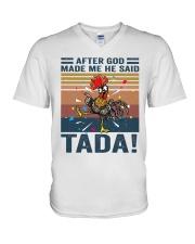 After God Made Me V-Neck T-Shirt thumbnail