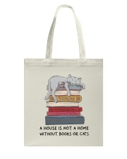 Books And Cats Tote Bag tile